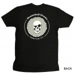 Women's T-shirt Drumskull Drums Logo Grey Back
