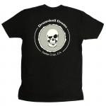 Men's T-shirt Drumskull Drums Logo Grey Back