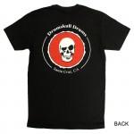 Men's T-shirt Drumskull Drums Logo Red Back