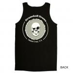 Men's Tank Drumskull Drums Logo Grey Back