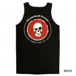 Men's Tank Drumskull Drums Logo Red Back