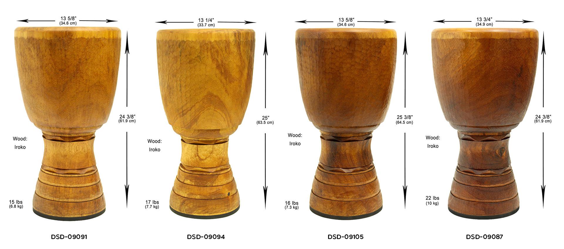 Ivory Coast Djembe shells